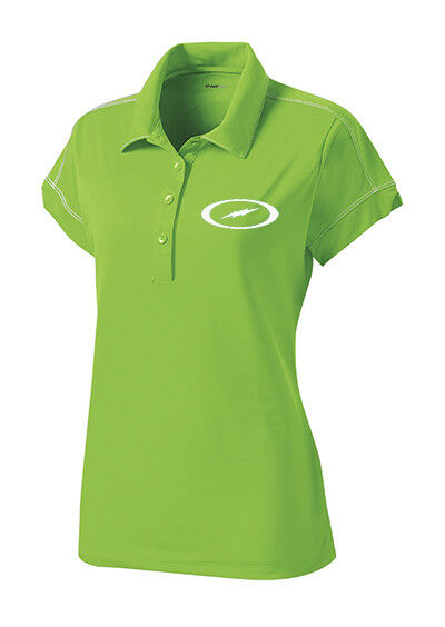 Storm Women's Code Performance Polo Bowling Shirt Dri-Fit Lime Green