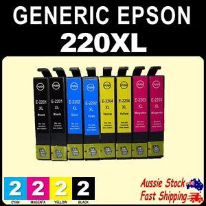 Details about 4x 6x 8x 10x 220XL 220 XL Generic Ink for EPS WF2630 WF2660  XP220 XP420 Printer