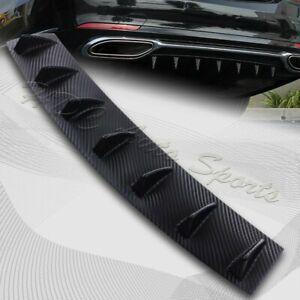 1-x-Carbon-Style-Rear-Lower-Bumper-Diffuser-Fin-Spoiler-Lip-Wing-Splitter-34-034-x6-034