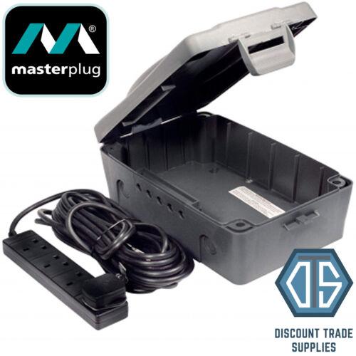 Masterplug WBXBFG10B-MP Weatherproof electric box 4 Socket 10 m plomb WBXBFG10B