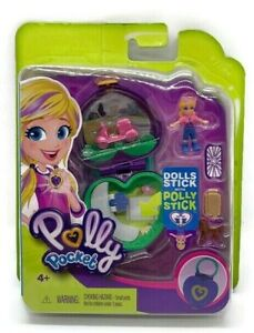 Polly-Pocket-Mini-Compact-Playsets-Pink-Heart-Shape-Locket-Doll-Mattel-New