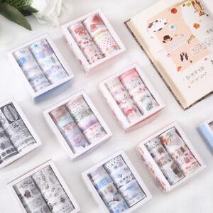 10x-INS-Washi-Tape-Set-DIY-Scrapbooking-Masking-Kleber-Papier-Album-Karte-dekor