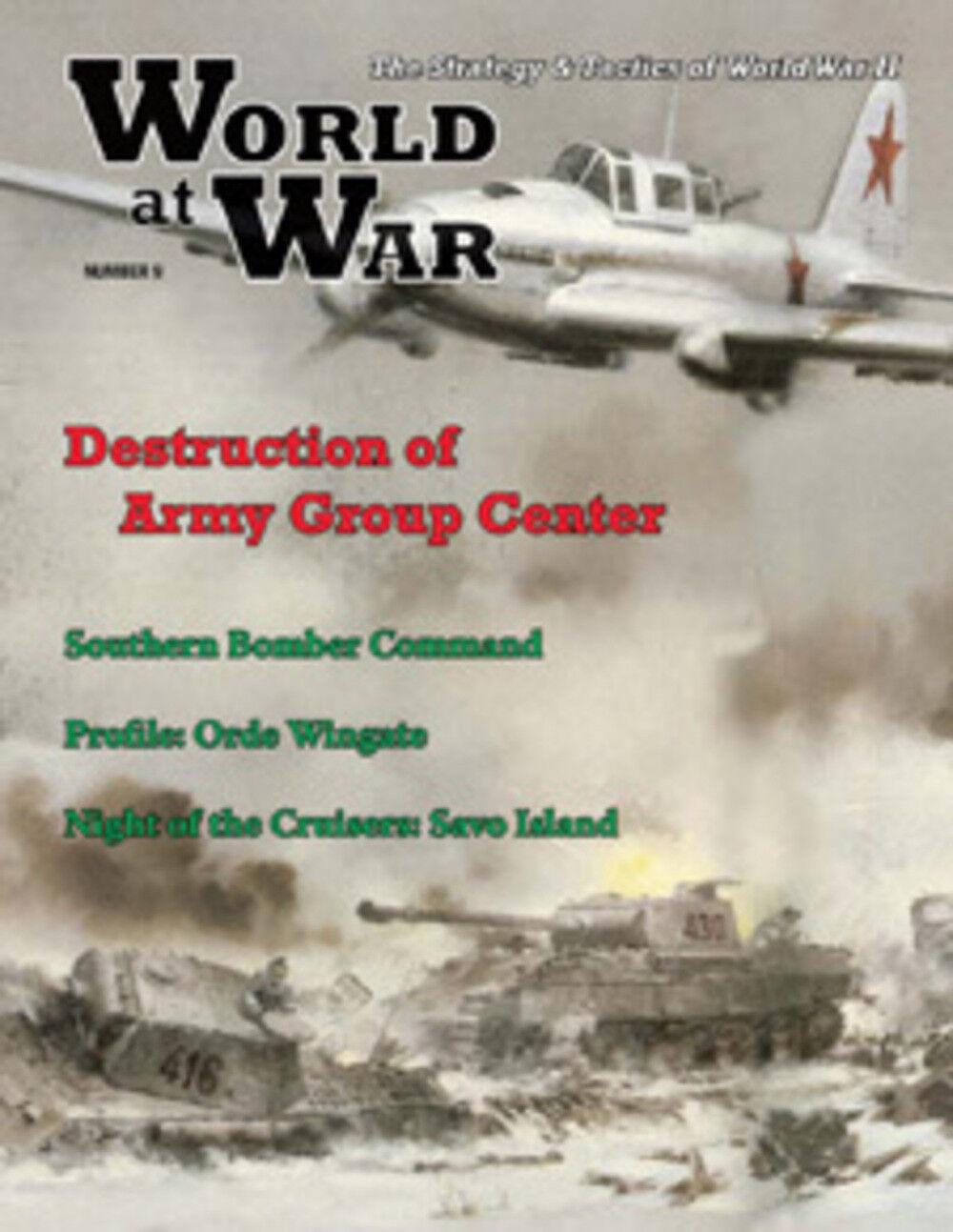 LE MONDE at War Number 9 destruction destruction destruction de Armée Groupe Centre - sans perforation 06e129