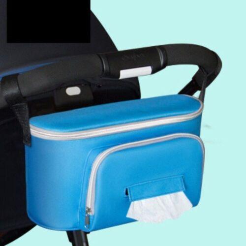 Pram Pushchair Stroller Baby Buggy Cup Bottle Drink Holder Storage Bag Organiser