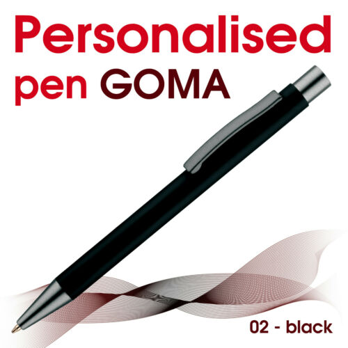 10//20//25//50 promotional personalised pen *GOMA* blue// black ink*school leavers
