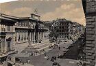 Cartolina - Postcard - Roma - Via Nazionale - Animata - auto - anni '50