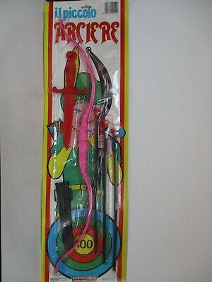 Acquista A Buon Mercato Arco Piccolo Arciere 3 Frecce A Ventosa Bersaglio Pugnale Anni '80
