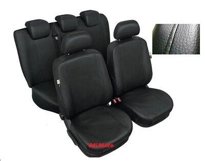Black EcoLeather Tailored Full Set Seat Covers Suzuki Grand Vitara 3dr 2005-2014