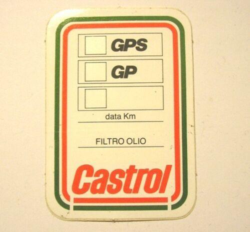 Old Sticker CASTROL cm 4 x 7 VECCHIO ADESIVO ETICHETTA TAGLIANDO CAMBIO OLIO