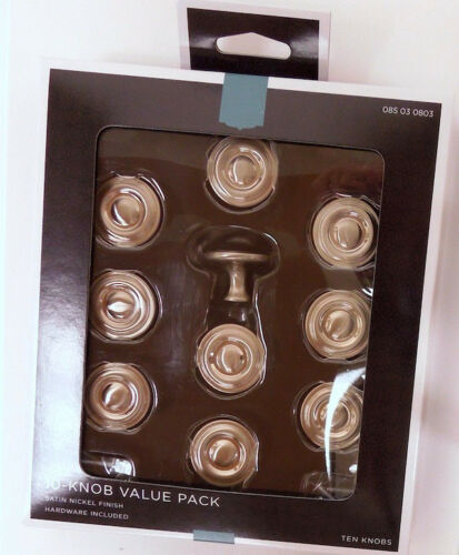 "085-03-0803 Satin Nickel 1 1//4/"" Raised Ring Cabinet Drawer Knob 10 Pack"