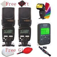 2* YONGNUO  YN685 N i-TTL Flash Speedlite + YN622N-TX Flash controller for Nikon