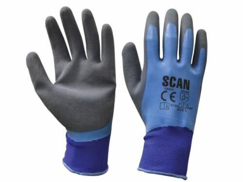 scaglolatwp Taille 9 Imperméable Gants de latex-Large