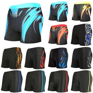 Mens-Boxer-Briefs-Swimming-Swim-Shorts-Trunks-Swimwear-Beach-Pants-Underwear