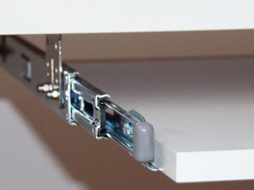 Teleskopschienen für Tastaturauszug 400 mm Nutzhöhe  47 mm zur Untertischmontage