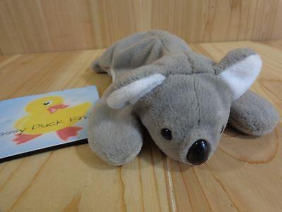 Ty Beanie Babies MEL Koala 1997 Beanbag Plush Gray NO HEART TAG