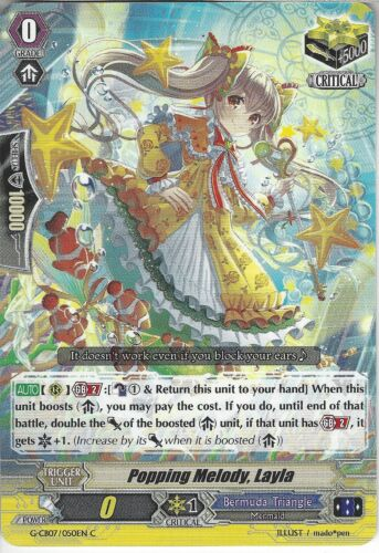 Common Card Cardfight Vanguard: Popping Melody Layla G-CB07//050EN C