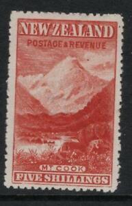 N.Z. 1906  5/-. SG 329   Mounted Mint + Gum Excellent Looking No Hidden Faults