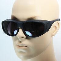 Fits Over Prescription Bifocal Sunglasses Cover All Drive Fish Black Brown