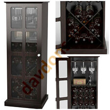 wine bar furniture cabinet rack wood glass bottle storage glass holder liquor