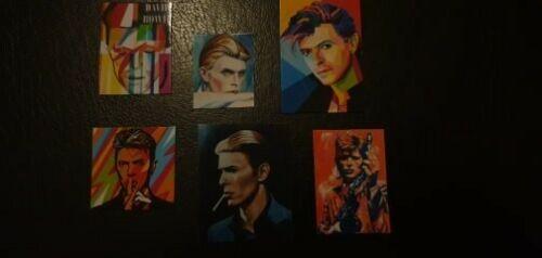 Miniatura 1:12 música Set 1 David Bowie X 6 ídolo carteles Casa De Muñecas carteles