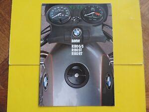 Bmw R80 R 80 Gs G/s St Rt Brochure Publicité Catalogue Catalog Prospekt 1982