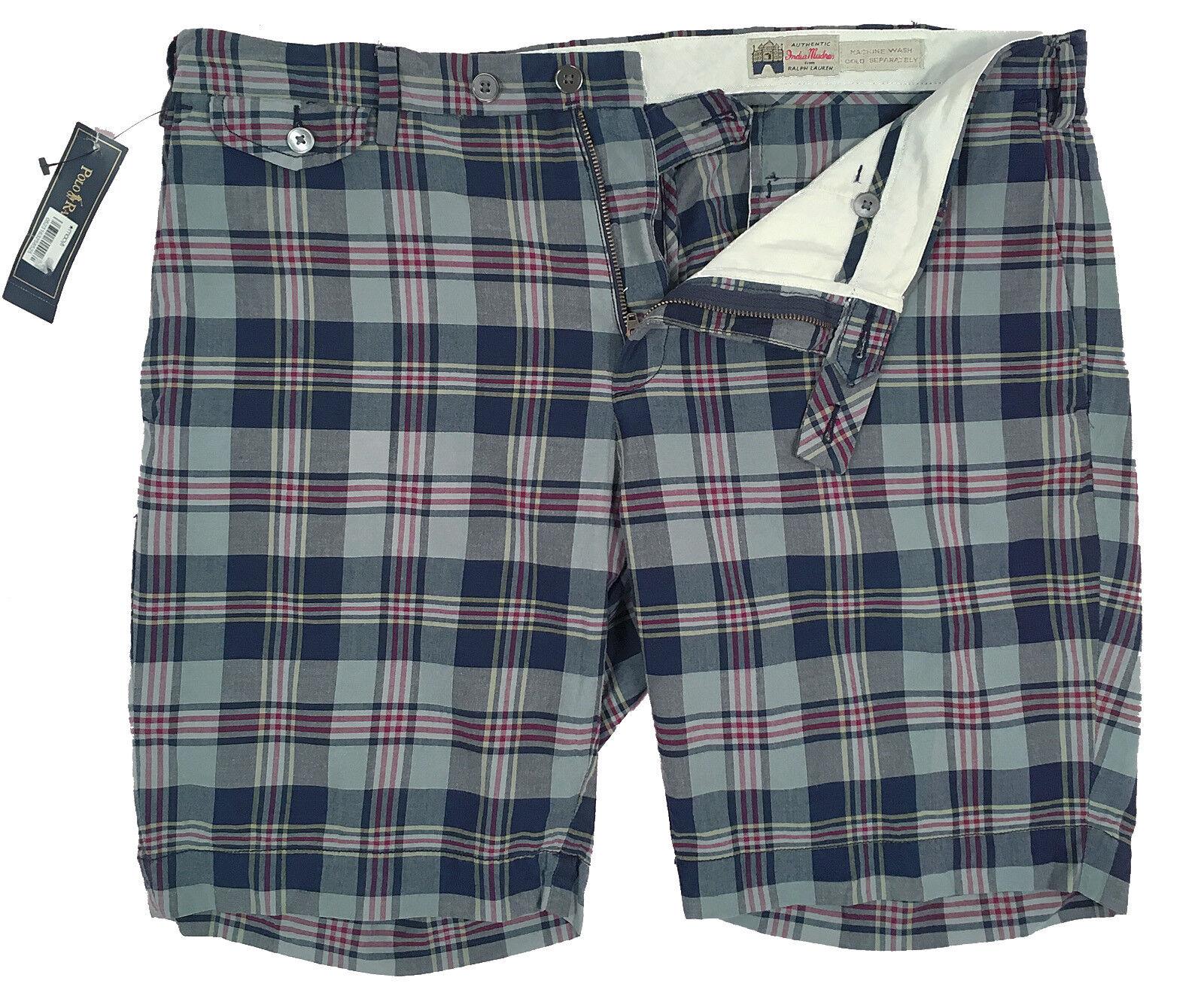 NEW  Polo Ralph Lauren Shorts   Madras Cotton   2 Plaid Patterns