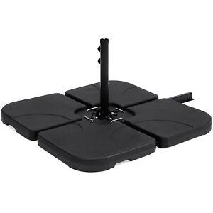 BCP-4-Piece-Cantilever-Offset-Patio-Umbrella-Stand-Square-Base-Plate-Set-Black