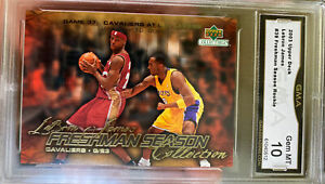 Hot-2003-Upper-Deck-Collectibles-Lebron-James-rookie-Kobe-Bryant-Gem-Mint-10-RC