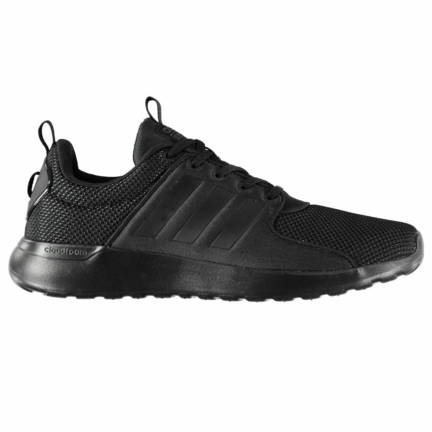 adidas Cloudfoam Lite Racer Trainers Mens Black Sports Shoes Sneakers