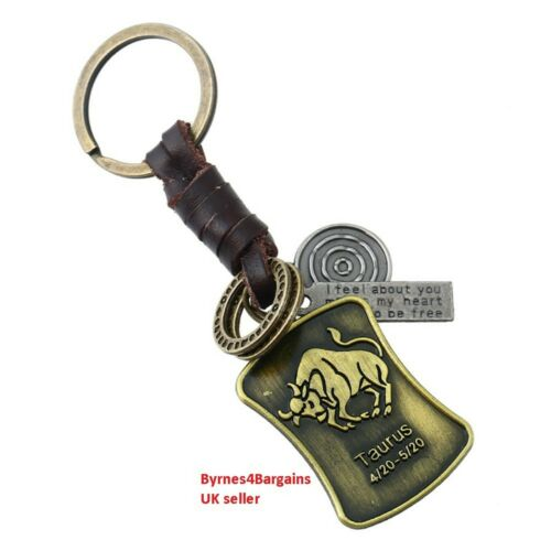 key ring zodiac handbag accessory star sign gift idea UK seller