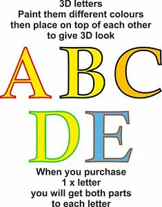 12-mm-Thick-3D-Look-MDF-Wooden-Letters-amp-Numbers-Choice-of-Heights-10-cm-60-cm
