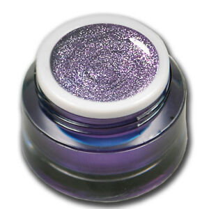 Fine Chrome Glitter Farbgel Shining Violett Nageldesign 5ml Colorgel