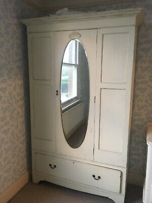 Armoires & Wardrobes Furniture Industrious Victorian Wardrobe Painted Yet Not Vulgar