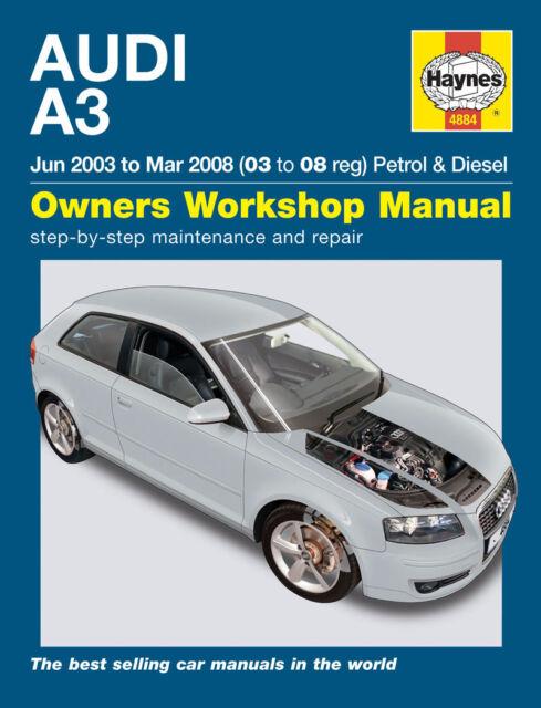 haynes owners workshop manual audi a3 jun 2003 to mar 2008 petrol rh ebay co uk audi a3 2.0 tdi owners manual 2012 Audi A3 TDI