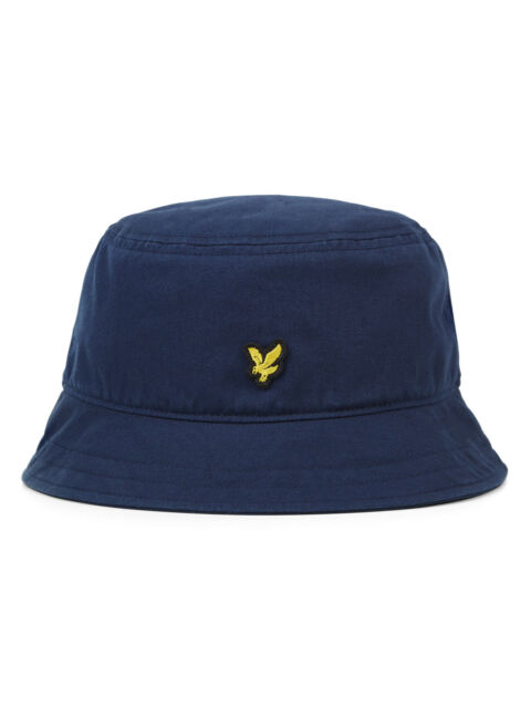 02946b9e96a Lyle   Scott Cotton Twill Bucket Hat Summer Navy One Size Unisex Golden  Eagle