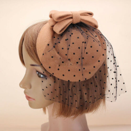 Eg /_ Damen Kopfschmuck Schleifenknopf Haarspange Beret Haare Pillbox Hut