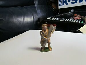 Barclay Manoil Lead Toy Soldier 23A Pilot with Bomb