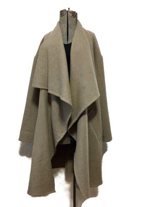 Ralph Lauren Beautiful Brown Wool Cardigan Cape Coat Size L