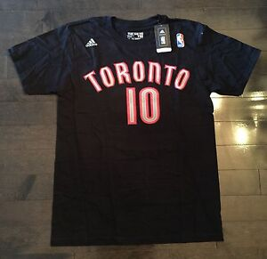 reputable site 79817 11fc1 Details about MEN'S ADIDAS DEMAR DEROZAN #10 TORONTO RAPTORS (NBA STORE  NYC) T-SHIRT - Medium