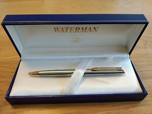 Waterman-Hemisphere-Ballpoint-Pen-in-Silver-and-Gold