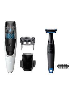 Philips Vacuum Beard Trimmer & Groomer Pack BT7204/85