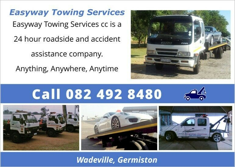 Easyway Towing Services cc is a 24 hour roadside, accident assistance company. Wadeville, Germiston.