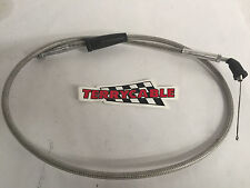 Yamaha Banshee Terrycable Steel Braided 2 into 1 Carb Kit Thumb Throttle Cable