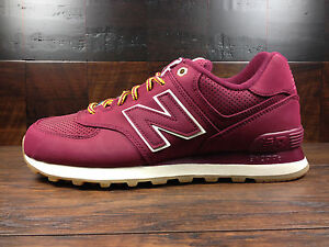 new balance 574 red suede boots