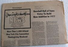 """1976 12/13 """"Sports Collectors News"""", 16 pages, NY City Convention, Price Guide"""