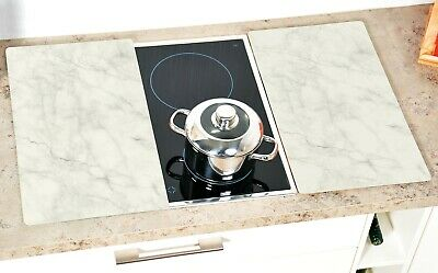 Kesper Herd Abdeckplatte Schneidebrett Glas 2er Set 52 x 30 x 0,5 cm 36536