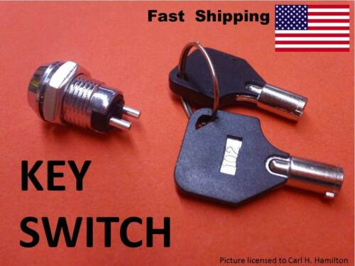 ON OFF Ignition ??? 1x School electronics SUPPLY SPST simple 2 wire KEY Switch