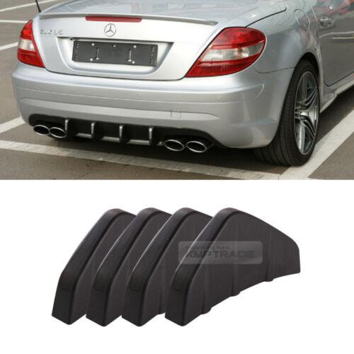 Rear Bumper Diffuser Molding Point Garnish Lip Trim Matte Black For All Vehicle
