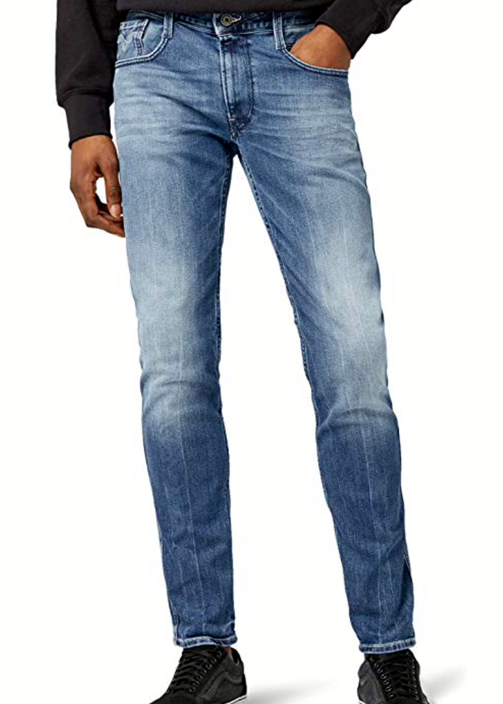 Da UOMO REPLAY Jeans ANBASS 31 x 34 Slim Fit Nuova Cartellini Authentic