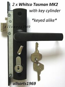 Whitco Tasman Mk2 Security Screen Door Locks Twin Pack